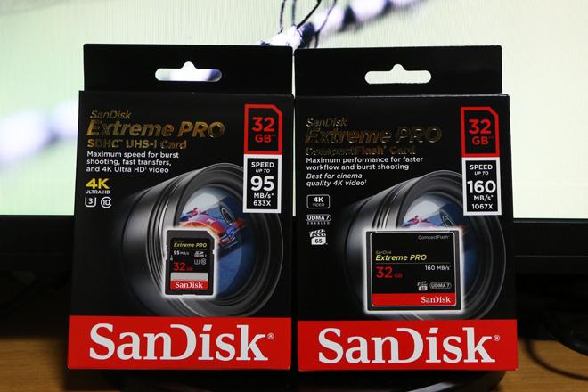 SanDiskのSDカードとCFカード