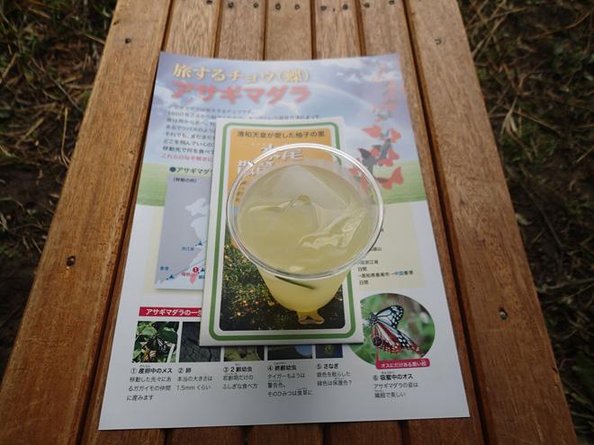 フジバカマ畑で購入した柚子ジュース